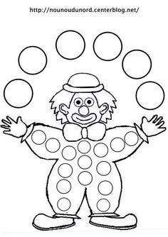 dot marker clown