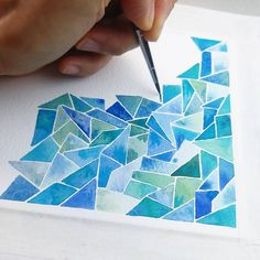 329 vind-ik-leuks, 15 reacties - Keren Duchan (@artonthefridge) op Instagram: 'I usually use a size 2 round brush for these watercolor patterns but this time I used a size 3…' Abstract Watercolor Art, Watercolor Images, Watercolor Pattern, Watercolor Paintings, Mosaic Patterns, Pattern Art, Perspective Art, Acrylic Painting Techniques, Watercolour Tutorials