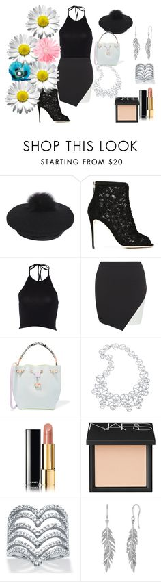 """""""~ Bloom"""" by moniquedawson09123 ❤ liked on Polyvore featuring Eugenia Kim, Dolce&Gabbana, New Look, Sophia Webster, Arabel Lebrusan, Chanel, NARS Cosmetics and Palm Beach Jewelry"""
