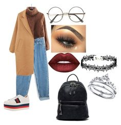 """""""90's style🤘"""" by anniixx on Polyvore featuring Levi's, Gucci, MANGO, Urban Expressions, Lime Crime and Unwritten"""