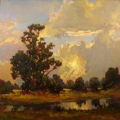"Jan Schmuckal ""Approaching Storm"" 24x24 Oil on Canvas"