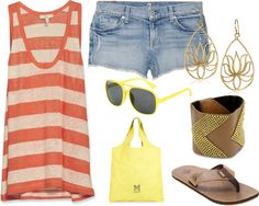 """beach day"" by steffiejean on Polyvore"