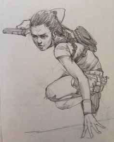 I call this a tomb raider sketch. #tombraider #girl #tough #gun #sketch #sketchbook #drawing #pencil #pencildrawing #art #illustration #doodle