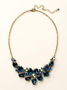 Dare To Pear Crystal Bib Necklace in Dress Blues by Sorrelli - $200.00 (http://www.sorrelli.com/products/NCP3AGDBL)