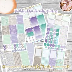 New!! Shabby Chic Planner Stickers | 5 Page Weekly Kit | ECLP, MAMBI, Kikki K, Kate Spade, Filofax, Websters, Color Crush