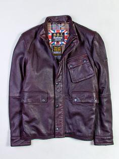 Barbour Men's Thunder Leather Jacket, Brown