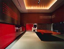 Dit ontwerp is van Hashimoto Yukio design studio Inc. Hij is geboren in 1962 en heeft gestudeerd aan Aichi Prefectural University of Art. Hashimoto Yukio is zoals de naam al zegt oprichter van deze studio en dat heeft hij gedaan in 1997 in Tokyo. Het ontwerp betreft een vergader ruimte van een Japans bedrijf. De warme kleuren en het gebruik van hout, geven dit een bijna huiselijke sfeer.     Race Office is de