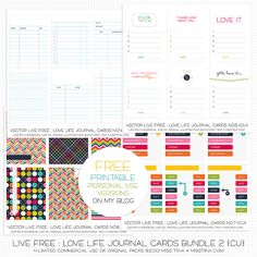 I am finally getting around to post about the new goodies in my shop from last week! 7 new packs of layered journal cards, 2 new pattern packs and a number set that all coordinate with my Live Free…