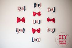 How To Craft A Bow Tie Garland. For your next party decoration, be it weddings or birthdays or whatever!