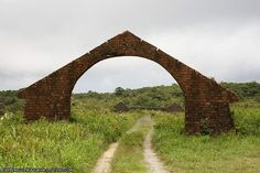 Gallery: Bokor Hill Station > April 2007 > arch to royal villas and servants quarters.jpg - Urban Exploration Resource