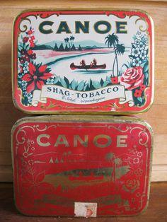 2 Canoe tins (Shag tobacco)