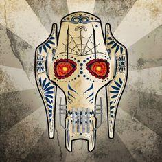 Les personnages de Star Wars version fête des morts mexicaine #11