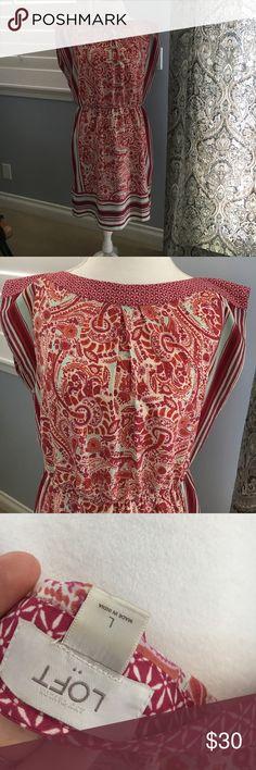 Ann Taylor loft scarf dress Georgeous Ann Taylor loft scarf dress Ann Taylor Dresses