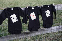 Three of a Kind Playing Cards TRIPZEES Onesies for by klzart, $69.00
