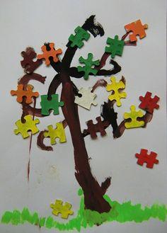 Podzimní puzzlový stron