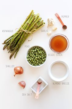 Creamy Asparagus Pea Soup! #minimalistbaker