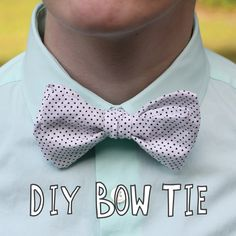 DIY Bow Tie. Clip-ons are much easier to make, but there's just something about the classic bow tie. Sophistication? Elegance? Or maybe I'm just old-fashioned.