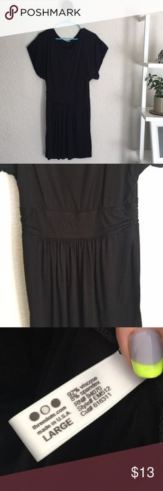 "Little Black Dress. Three Dots.  Size L. Great little black dress with short sleeves and gathered waist.  Hits mid thigh.  (I'm 5'8"").  Worn once or twice.  Message for more pics. Three Dots Dresses"