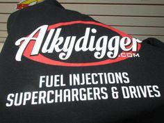 Alkydigger  Racing Black T Shirt - Cotton - Size , MED,  L, XL, XXL  XXXL #Alkydigger #BasicTee