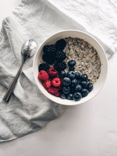 An easy overnight chia seed oats recipe that will start your day off with healthy fats, protein and carbs.
