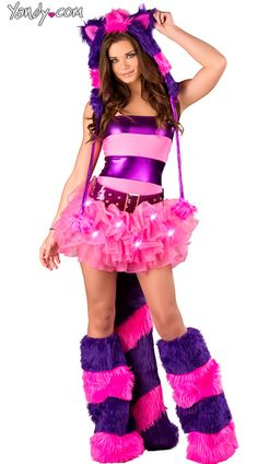 Deluxe Furry Cheshire Cat Costume Sexy Cheshire Cat Costume Cheshire Cat Outfit  sc 1 st  Pinterest & 33 best cheshire cat and mad hatter images on Pinterest | Halloween ...