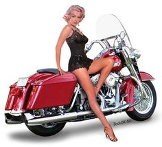Motorcycle Pin Up Girl Sign I Like Fat Boys 12×18