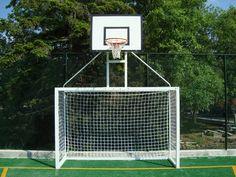 Multipurpose goal for mini-football and basketball