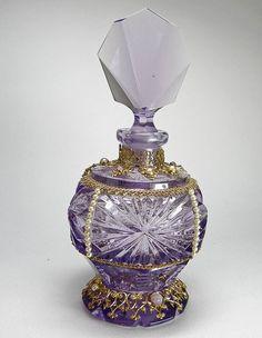 Czech Jeweled Perfume Bottle Amethyst by TheSnow - Perfume Bottles 2 -