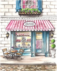 PRINT OF THE WEEK: Les Petits Gâteaux Bakery | Melissa Colson