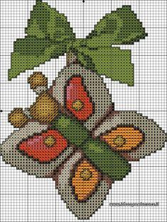 schemi thun Cross Stitching, Cross Stitch Embroidery, Cross Stitch Patterns, Minnie Baby, Hand Embroidery Flowers, Mug Rugs, Christmas Cross, Needlework, Diy And Crafts
