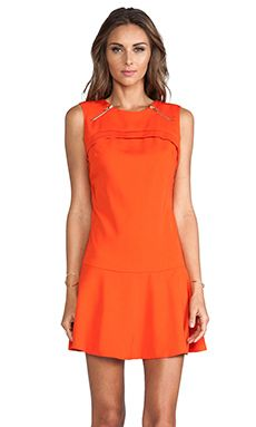 MM Couture by Miss Me Drop Waist Sleeveless Dress in Orange | REVOLVE