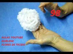 AULA 98 - ROSA BRANCA DE ORGANZA ENGOMADA COM COLA DE ISOPOR - YouTube