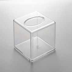 Transparent Clear Acrylic Tissue Box Cover (Square) LOO