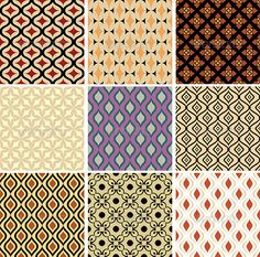 Abstract Vector Patterns  #GraphicRiver         Set of 9 abstract vector patterns. No transparency used. No gradient used. EPS file.     Created: 30July13 GraphicsFilesIncluded: VectorEPS Layered: No MinimumAdobeCSVersion: CS Tags: abstract #background #circle #color #decor #decoration #design #detail #element #fabric #floral #flower #geometric #graphic #illustration #ornament #paper #pattern #retro #scrap #seamless #simple #symmetry #textile #texture #tile #vector #vintage #wallpaper