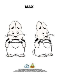 Max And Ruby Coloring Pages wecoloringpage Pinterest