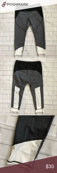{Lucy} Mesh Detail Leggings Lucy Leggings in size L.  🌿Excellent used condition 🌿White mesh detail  Be sure to check my closet for more Lucy and other great brands! Lucy Pants Leggings