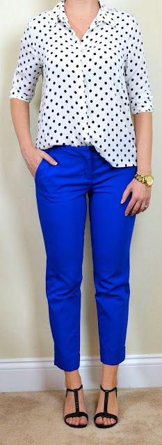 royal blue pants. trying to find what to wear on the top. | Closet ...