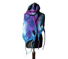 Felted scarf felted collar felted necklace by MarlenaRakoczy