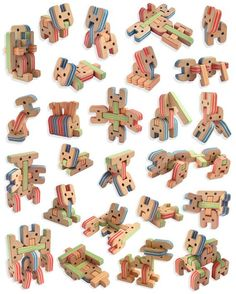 Anicube wooden construction toy