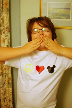 Love this homemade Disney shirt! Made by cutting out iron-on vinyl with a Cricut
