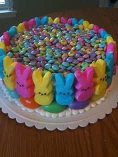 Easter Peeps Don't judge me too harshly! This cake didn't involve much skill...I threw it together to take to the family Easter...
