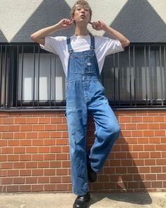 Overalls Fashion, Bib Overalls, James Dean, Guys, Pants, Luxury, Window Boxes, Trousers, Trouser Pants