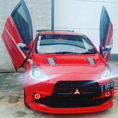 Mitsubishi Mirage, Car Stickers, Evo, Cars, Vehicles, Super Cars, Car Bumper Stickers, Autos, Car Decal