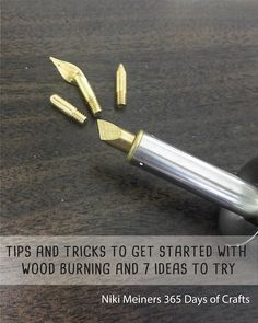 Getting started with wood burning is easier than you might think. A basic wood burning tool, wood and dif Getting started with wood burning is easier than you might think. A basic wood burning tool, wood and different tips are all you need. Wood Burning Tips, Wood Burning Techniques, Wood Burning Crafts, Wood Burning Patterns, Wood Crafts, Wood Burning Projects, Diy Crafts, Dremel, Wood Burner Tool