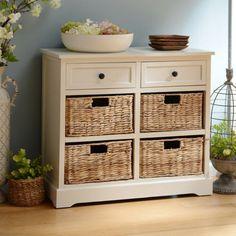 Ivory 6-Drawer Storage Chest with Baskets | Kirklands