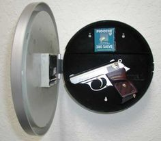 Clock Gun Safe - Products - POLICE Magazine  This would be a good idea to use with an existing clock.
