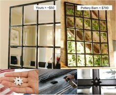 Beautiful DIY Pottery Barn Mirror — Save Over $600 When You DIY ..............FOLLOW DIY Fun Ideas! .............BEST DIY SITE EVER!!!