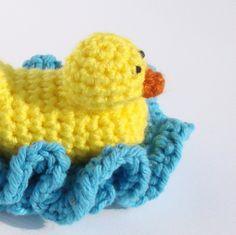 Duckie Scrubbie Crochet (idea only)