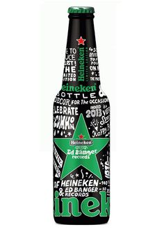If It's Hip, It's Here: Heineken X Ed Banger Records Glow In The Dark Bottle by So Me.