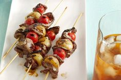 """Ranch-Style Steak Kabobs recipe -         We love grilling """"ahas!"""" Like brushing potato, tomato and steak kabobs with ranch dressing for a juicy grilled main. So simple. So good. The secret's out."""